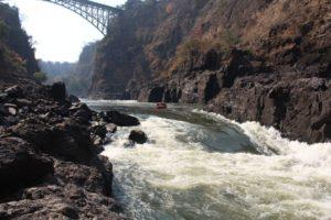 Rafting on Zambesi River