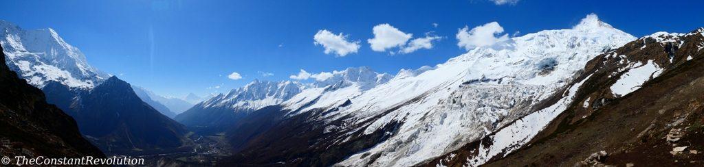 Manaslu panoramic view