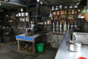 Typical Tea House kitchen