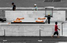 Thoughts in front of Gandhi's Memorial