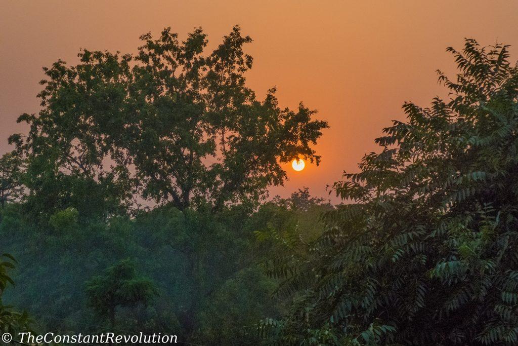 Sunset over Bardia National Park