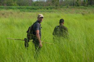 Walking safari in Bardia National Park