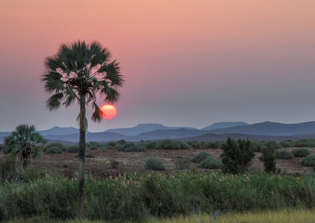 Sunset in Palmwag