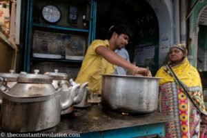 Traditional Chai being served - Old Delhi